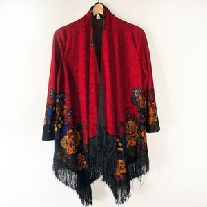 Asian Style Kimono with Gorgeous Floral Detail